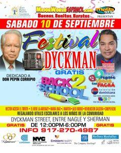 El Festival de Dickman, que se celebrará el sábado 10 de septiembre