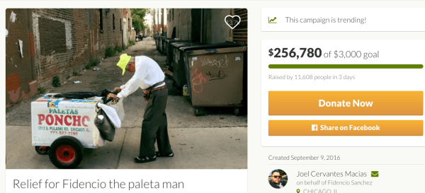 paletaman Internautas ayudan anciano vendedor de helados