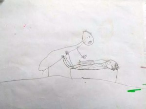 El crudo dibujo de una niña de 5 años para describir los abusos sexuales que sufrió
