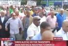 sindicalistas Video: Así marchan los sindicalistas por la 27 de febrero