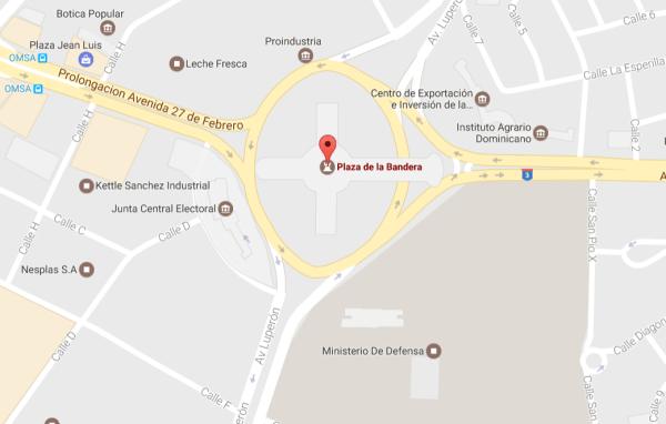 plaza de la bandera Eliminan Torre Eiffel dominicana de Google Maps