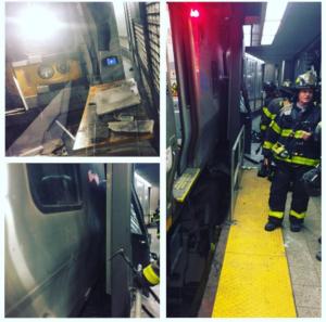 lirr Más sobre el tren descarrilado en Brooklyn, NY