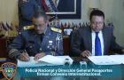 pn1 La PN y Pasaportes firman Convenio Interinstitucional