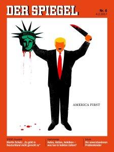 Donald Trump decapita a la Estatua de la Libertad en la portada del nuevo 'Der Spiegel'
