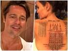 brangelina Los últimos tatuajes de Angelina Jolie pa salvar su matrimonio