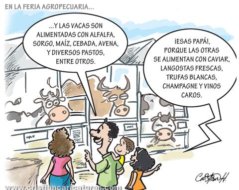 caricatura vacas sagradas Caricatura – Lo que comen las vacas