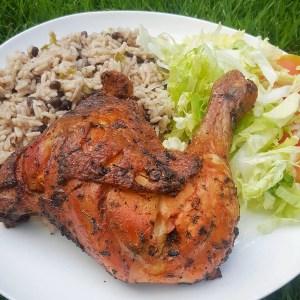 comida1 Comida de las 12: Pollo al horno, moro y ensalada