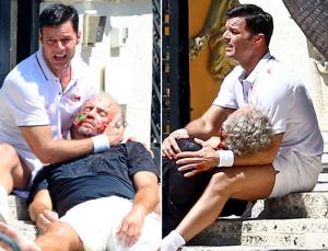 ricky martin Ricky Martin en escena; con un cuerpo asesinado (fotos)