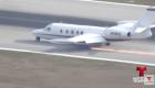 sarasota Así aterrizó un avión sin una goma (video)