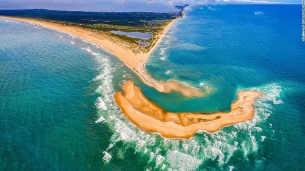 Carolina del Norte 2 Nueva isla aparece en la costa de Carolina del Norte