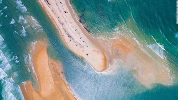 Carolina del Norte Nueva isla aparece en la costa de Carolina del Norte