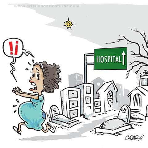 """caricatura 2 Caricatura: """"Hospital maternidad de los pobres..."""""""