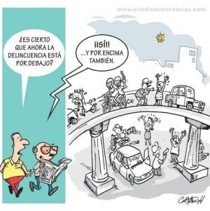 caricatura 3 300x301 Caricatura: Delincuencia por debajo...