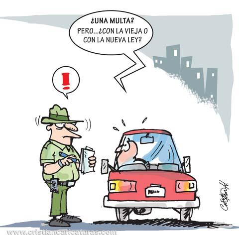 "caricatura Caricatura: ""Ley de tránsito..."""