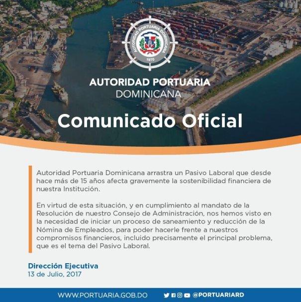 port2 Aclaración: Comunicado de Autoridad Portuaria