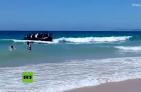 Yola 300x196 Video: Yola full de inmigrantes llega a playa española