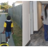 Viral en las redes: Padre e hijo caminando a la escuela