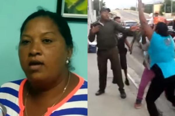 Image result for Agente de amet agredido por mujer en santiago, RD