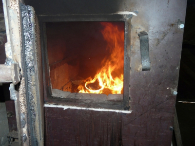 Cámara casera de combustión de la caldera