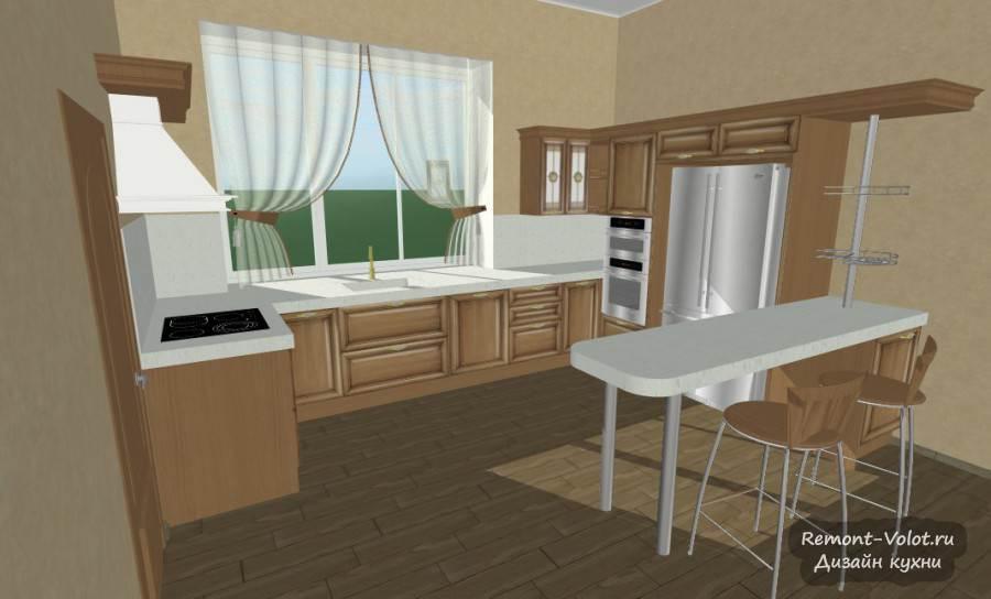 дизайн кухни в частном доме с окном фото 5