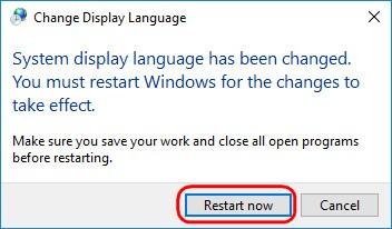 Как изменить системный язык в Windows 10 Spring Creators Update