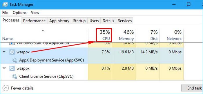 Процесс WSAPPX грузит диск и ЦП! Как его отключить или ограничить потребление процессом ресурсов компьютера