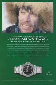 Реклама на Rolex с Alain Hubert