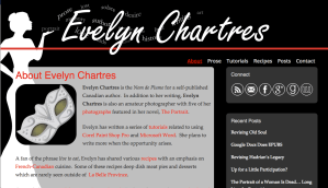 Author site Evelyn Chartres built by Moran Media
