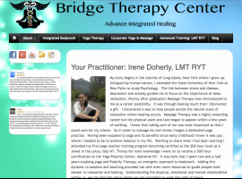 Yoga and Massage, Bridge Therapy site built by Moran Media
