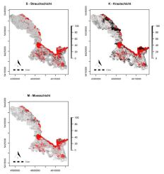 Wall-to-wall predictions of understory canopy cover usign high density point cloud, habitat types and a logistic model
