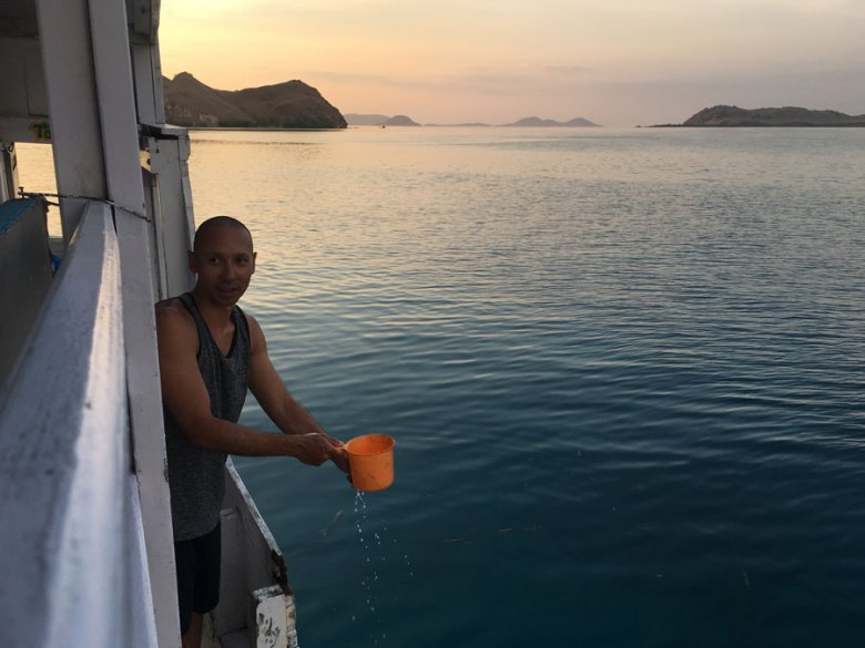 Toilet facilities on a Liveaboard in Komodo