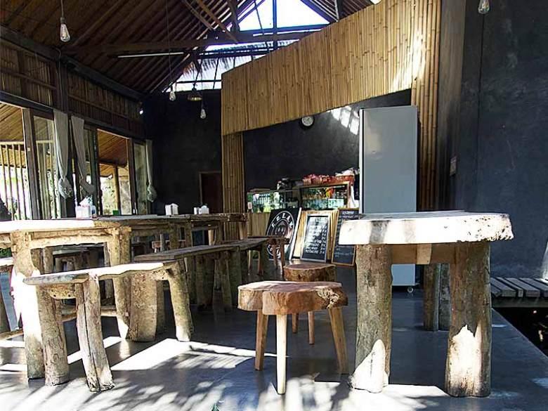 Cheap eat seating Ubud Warung sate kacul