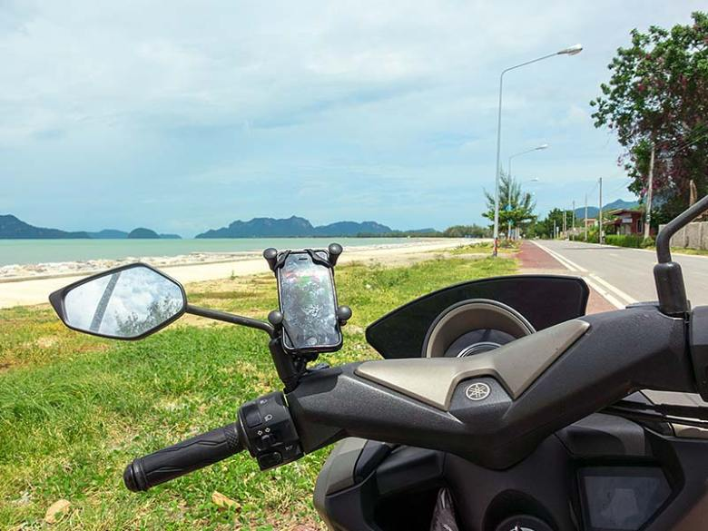 Motorbike route to Sam Roi Yot in Southern Thailand