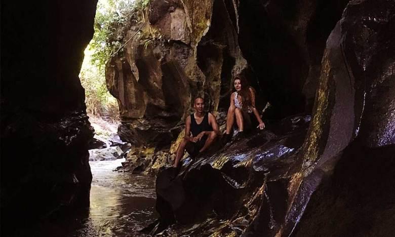 People in Hidden Canyon, Bali