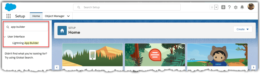 Configuring Salesforce Home Tabs - Salesforce Lightning Home Page Tab