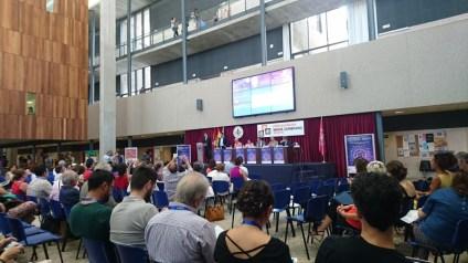 Momento estelar de la presentación del congreso de Segovia