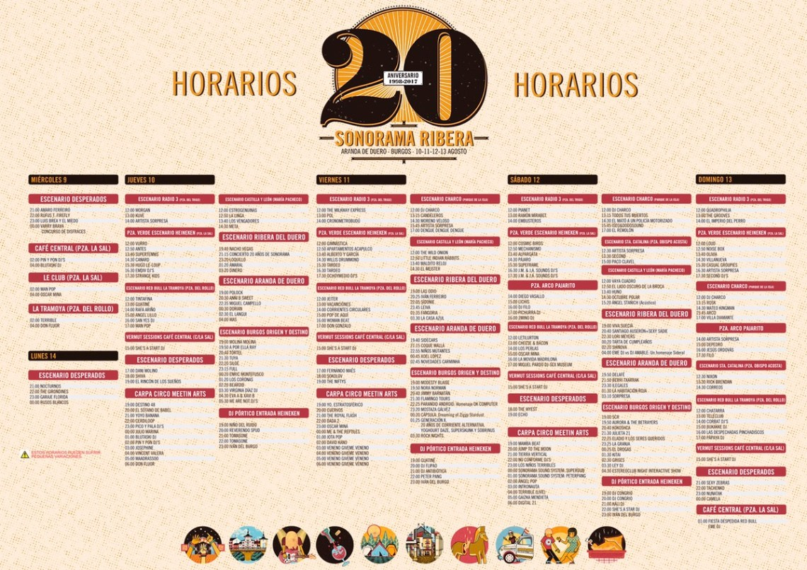 Programa Sonorama Ribera 2017
