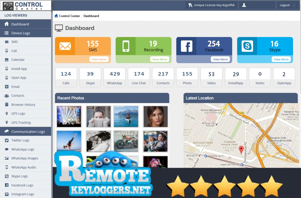Remote Android Keylogger Spy Application