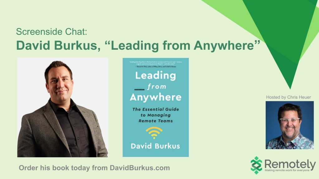 David Burkus on Leading from Anywhere