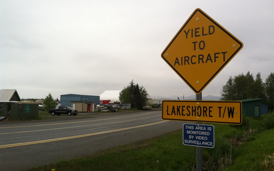 yield to aircraft sign in anchorage alaska