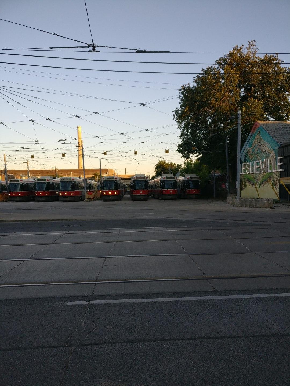 streetcar yards in leslieville toronto
