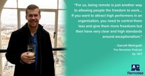 garrett mehrguth on the remotise podcast, ceo of directive consulting