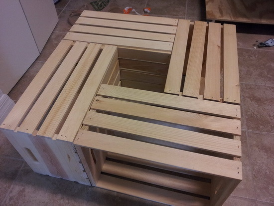 How To Make A Coffee Table Out Of Old Wine Crates Easy DIY Project