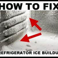 How To Fix Ice Buildup In Your Refrigerator/Freezer