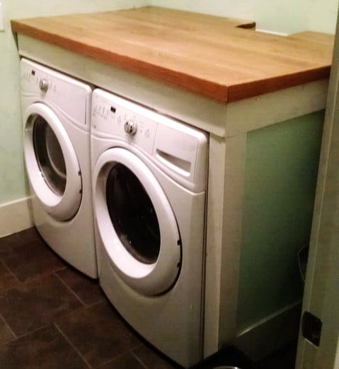 Diy Laundry Room Countertop Over Washer Dryer Removeandreplace