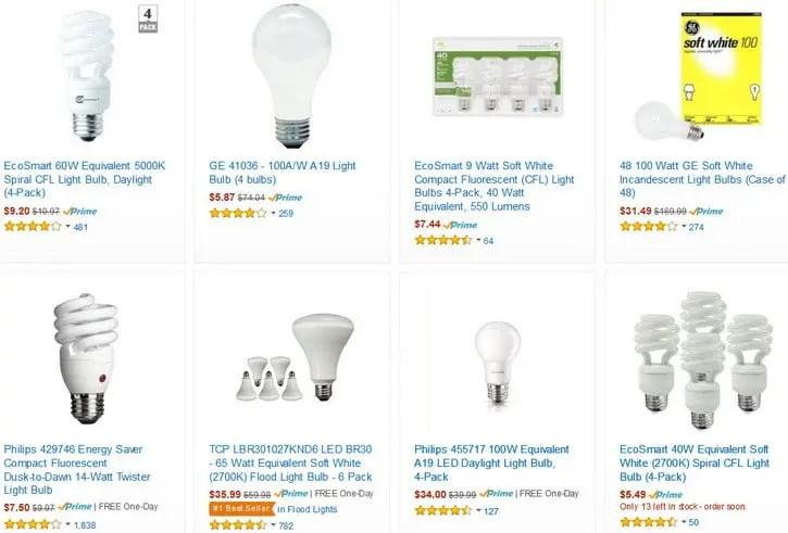 Fluorescent Light Bulbs Sizes