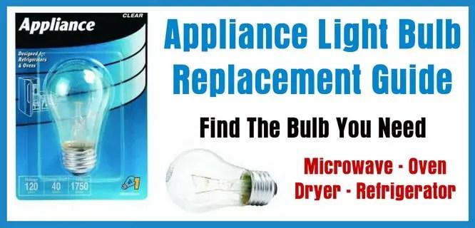 light bulbs for microwave