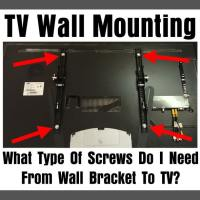 TV Wall Mounting - What Type Of Screws Do I Need From Wall Bracket To TV?