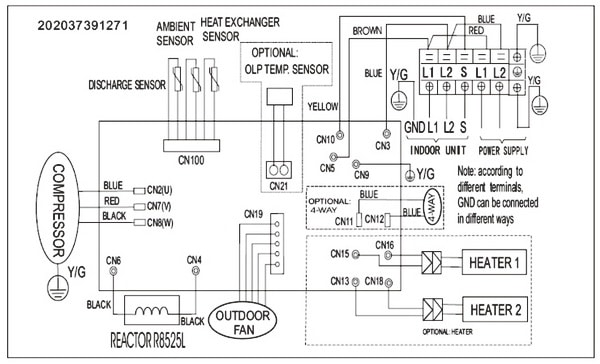 quiet side split air conditioner wiring diagram