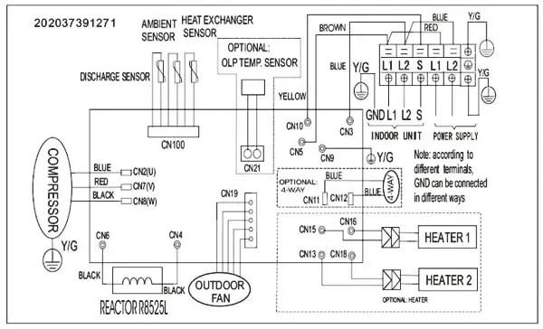Pioneer Air Conditioner Inverter Ductless Wall Mount Mini Split System Outdoor Wiring Diagram?ssl=1 pioneer air conditioner ac mini split error codes and split air conditioner wiring diagram at alyssarenee.co